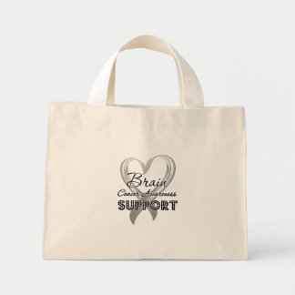 Support Brain Cancer Awareness Canvas Bags