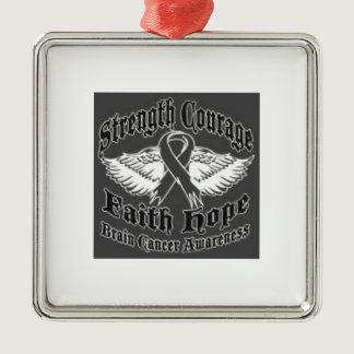 Support Brain Cancer awareness Metal Ornament