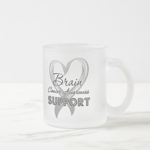 Support Brain Cancer Awareness 10 Oz Frosted Glass Coffee Mug