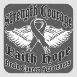 Support Brain Cancer awareness Square Sticker