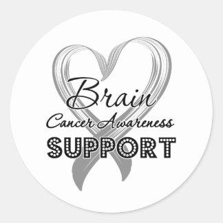 Support Brain Cancer Awareness Round Sticker