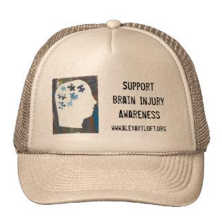 Support Brain Injury Awareness Cap Trucker Hat