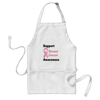 Support Breast Cancer Awareness Adult Apron