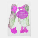 Support Breast Cancer Awareness Hand Towel