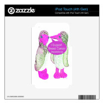 Support Breast Cancer Awareness iPod Touch 4G Decal