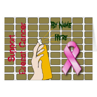 Support Breast Cancer Graffiti Card