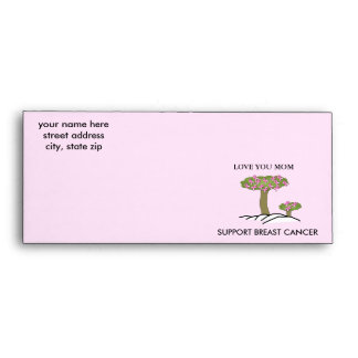 SUPPORT BREAST Cancer, Love You Mom Envelope