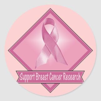 Support Breast Cancer Research Classic Round Sticker