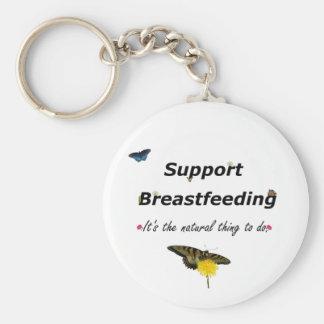 Support Breastfeeding nature design Keychain
