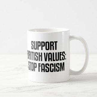 Support British Values: Stop Fascism Coffee Mug