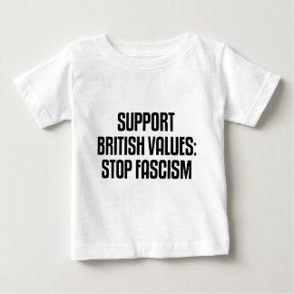 Support British Values: Stop Fascism T-shirt