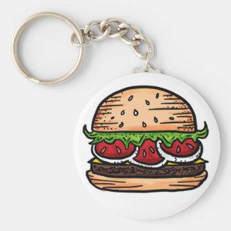 Support burgers food humor keychain