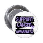 Support Cancer Awareness Grunge Buttons