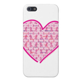 Support Cancer Pink Ribbon Cover For iPhone SE/5/5s