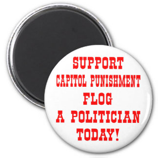 Support Capitol Punishment Flog A Politician Today Magnet