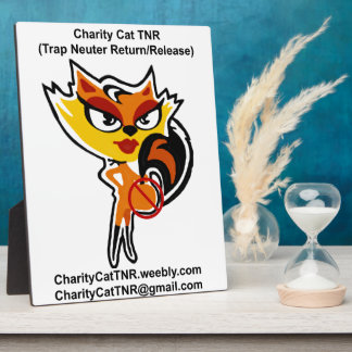 Support Charity Cat TNR Display Plaques