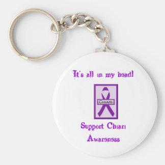 Support Chiari Awareness Keychain