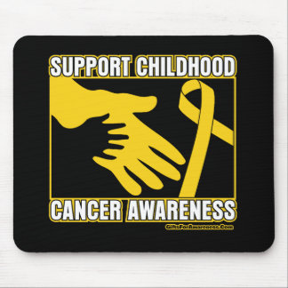 Support Childhood Cancer Awareness Abstract Hands Mousepads
