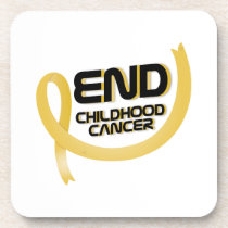 Support Childhood Cancer Awareness Beverage Coaster