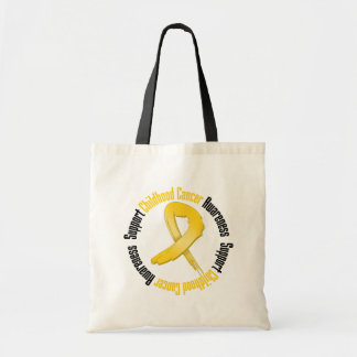 Support Childhood Cancer Awareness Canvas Bags