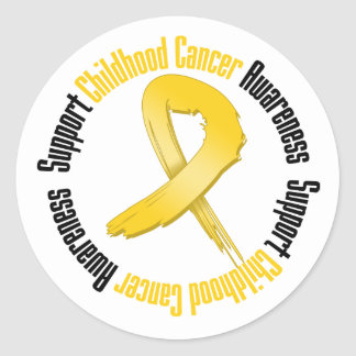 Support Childhood Cancer Awareness Classic Round Sticker