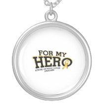 Support Childhood Cancer Awareness Silver Plated Necklace