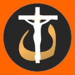 "Support Christians! Crucifix - ""Nuun"" Symbol Sticker"