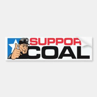SUPPORT COAL BUMPER STICKER