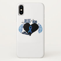 Support Colon Cancer Awareness iPhone X Case