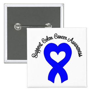 Support Colon Cancer Awareness Pinback Button