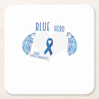 Support Colon Cancer Awareness Square Paper Coaster