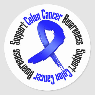 Support Colon Cancer Awareness Classic Round Sticker