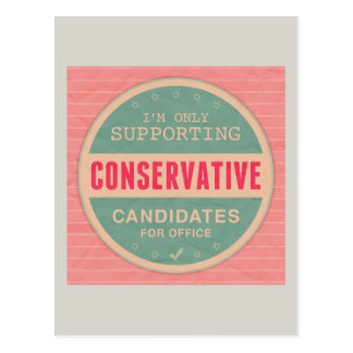 Support Conservatives Postcard