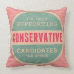 Support Conservatives Throw Pillows