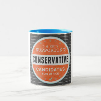 Support Conservatives Two-Tone Coffee Mug