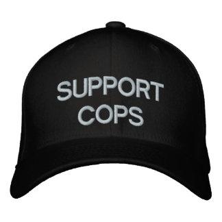 SUPPORT COPS BASEBALL CAP by eZaZZleMan.com