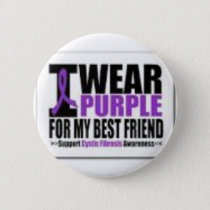 Support cystic fibrosis research button