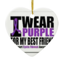 Support cystic fibrosis research ceramic ornament