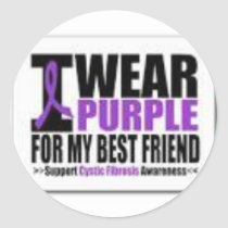 Support cystic fibrosis research classic round sticker