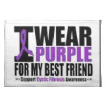 Support cystic fibrosis research cloth placemat