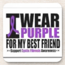 Support cystic fibrosis research coaster