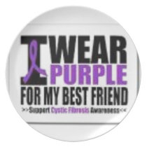 Support cystic fibrosis research dinner plate