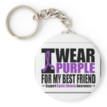 Support cystic fibrosis research keychain
