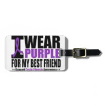 Support cystic fibrosis research luggage tag