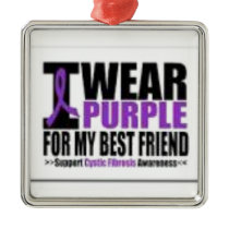 Support cystic fibrosis research metal ornament