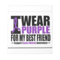 Support cystic fibrosis research notepad