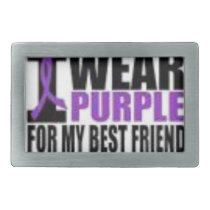 Support cystic fibrosis research rectangular belt buckle