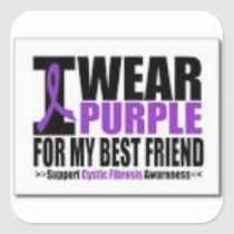 Support cystic fibrosis research square sticker