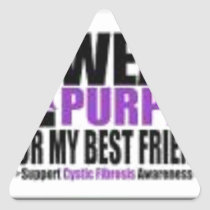 Support cystic fibrosis research triangle sticker