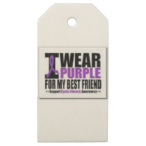 Support cystic fibrosis research wooden gift tags